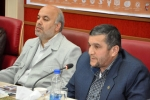 روزبه استاندار قزوین در جلسه ستاد عالی اردوهای پشتیبانی هجرت با حضور سردار حزنی