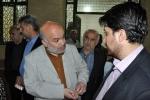 دیدار مردمی روزبه استاندار قزوین در مسجد بلاغی