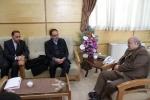 دیدار روزبه استاندار قزوین با مدیر عامل بانک مسکن