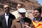 بازدید روزبه استاندارقزوین از پروژه راه الموت و تنکابن و گاز رسانی و دیدار مردمی