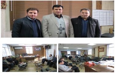علی اکبرسلیمانی،فرماندارآوج، دیدار،رئیس ،کمیته امداد، آبگرم