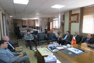 علی اکبرسلیمانی،فرماندارآوج، دیدار،مدیرکل،هواشناسی