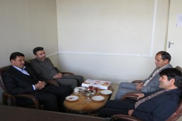 علی اکبرسلیمانی،فرماندارآوج، هفته ثیت احوال،دیدار