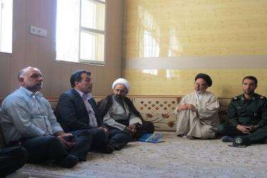 نصرت اله علیرضایی،فرماندار آوج، هفته دولت،دیدار امام جمعه،آبگرم