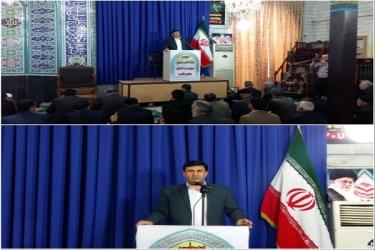 علی اکبرسلیمانی،فرماندارآوج، نمازجمعه،آبگرم
