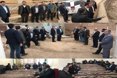 علی اکبرسلیمانی،فرماندارآوج،بازدید،نماینده،مجلس،روستاها